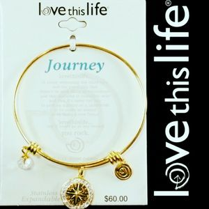 New Gold LOVE THIS LIFE Journey Charm Bracelet